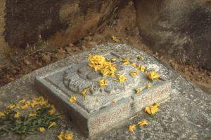 Stone footprints at Sravanbelgola